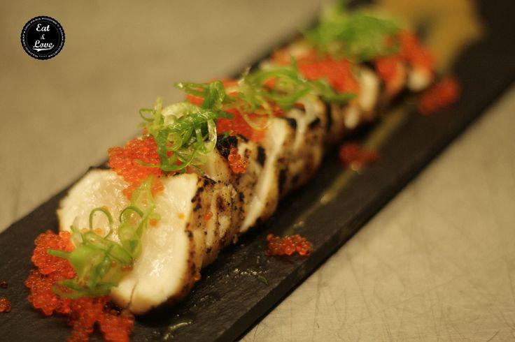 Tataki de pez mantequilla Nakeima, restaurante street food Madrid