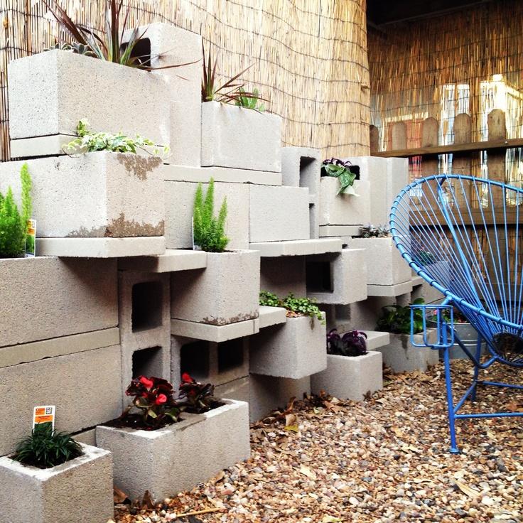 Cinder Block Wall Garden Garden Pinterest