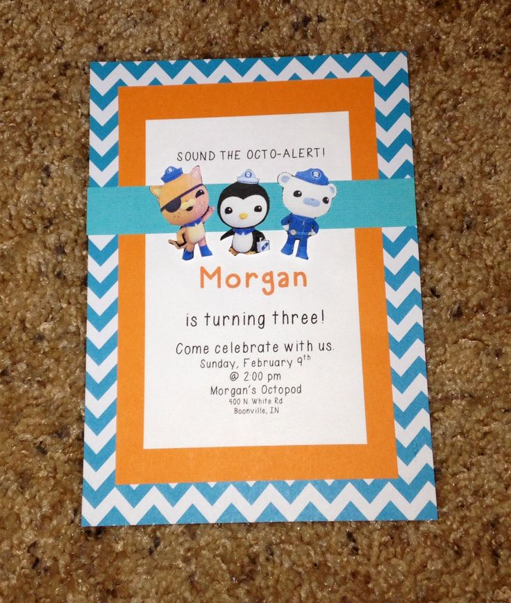 Octonauts Birthday Invitations is an amazing ideas you had to choose for invitation design
