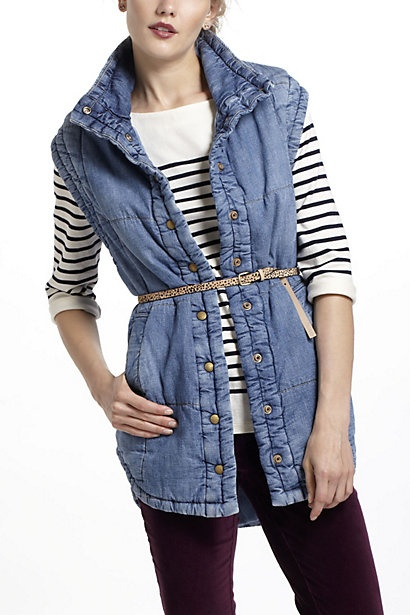 Citizens Of Humanity Quilted Denim Vest #anthropologie