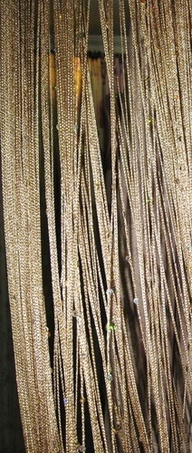 string curtain for wall behind bed | home | Pinterest