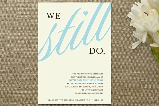Vow Renewal Invitation.