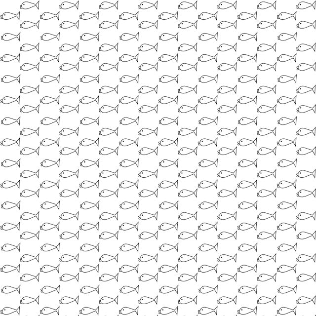 FREE digital black-and-white scrapbooking paper with tiny fishes: printable fishes DIY wrapping paper