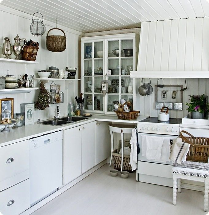 Pin By Eva Eva On Shabby Chic Kitchens Living Pinterest