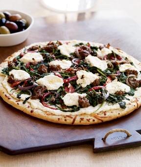 Sausage Arugula Pizza Recipe: Serves 5 Start with a prebaked thin ...