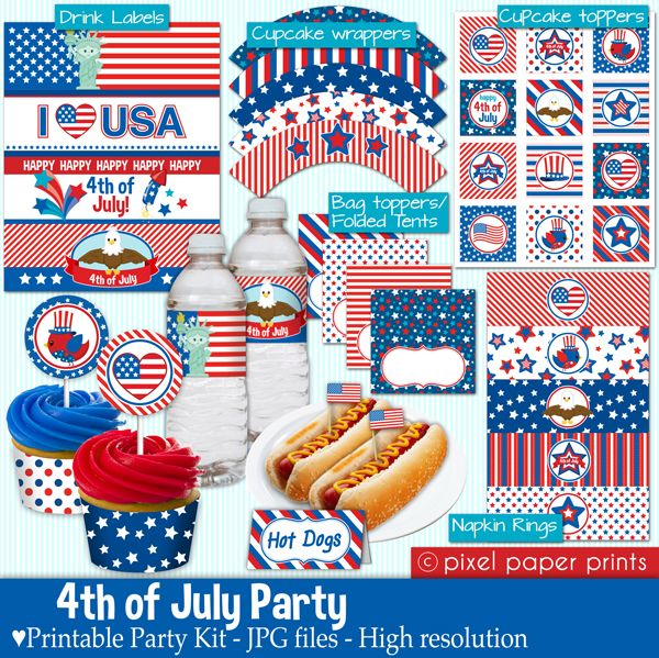 4th july printable bunting