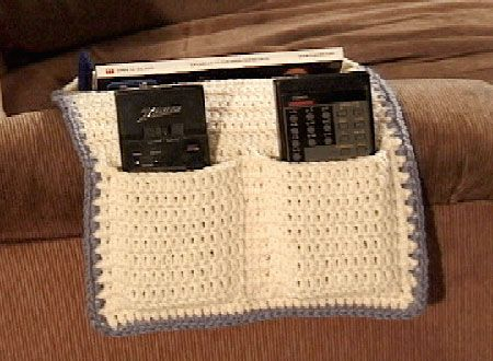Armchair TV Caddy crochet patterns for the home Pinterest