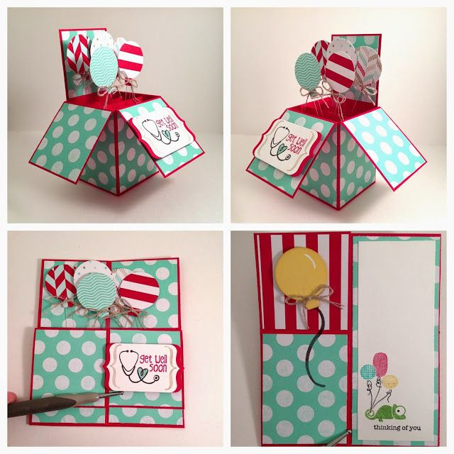 InkyPinkies: My first Card-In-A-Box! With retiring stamp set Tag It.