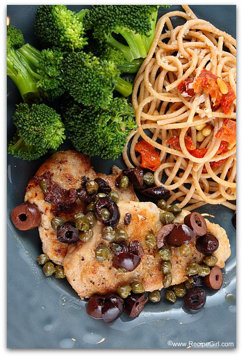 ... easy, healthy weeknight dinner: pork tenderloin with olives & capers
