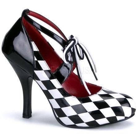 Checker Women's Pump Shoes 4 inch Heel
