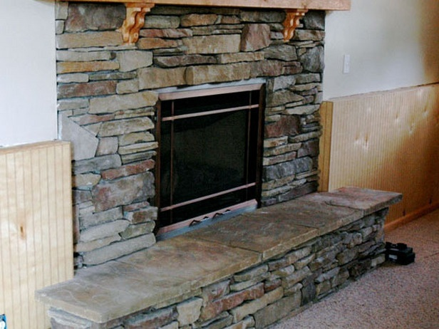 facadediy experts show how to build a stone facade for a fireplace