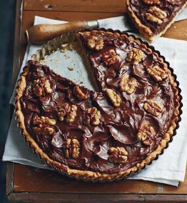 Chocolate Walnut Honey Tart | Food | Pinterest