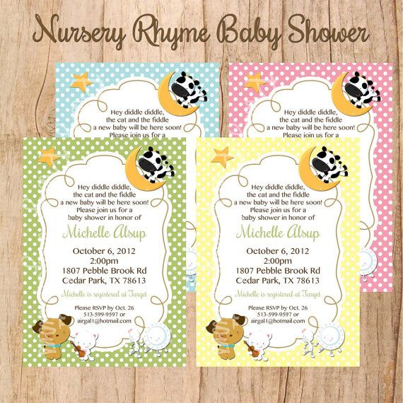 nursery rhyme baby shower or birthday by prettypartycreations