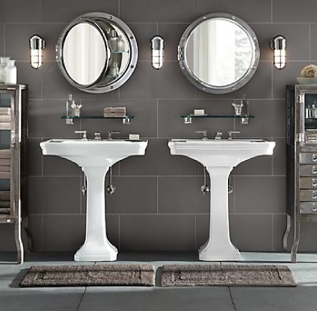 Restoration hardware bathroom grey for guys the incorporation of