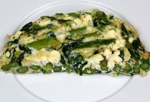 Asparagus, Spinach, and Feta Cheese Frittata Recipe | Two Peas & Their ...