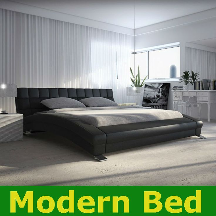 2013 king queen twin size cool modern leather bed frame bedroom furni