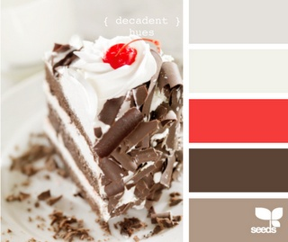 Love this colour palette, maybe for a bathroom or a guest room?