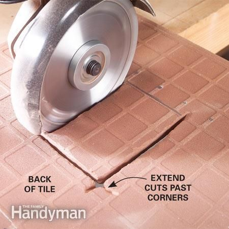 how to hide a bad cut on a tile