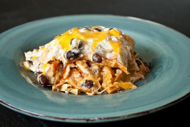 Chicken and Black Bean Enchilada Casserole | Recipe