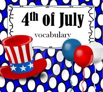 july 4th vocabulary
