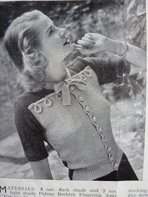 knitting pattern. Woman's cardigan. 3-ply. Stitchcraft April 1948