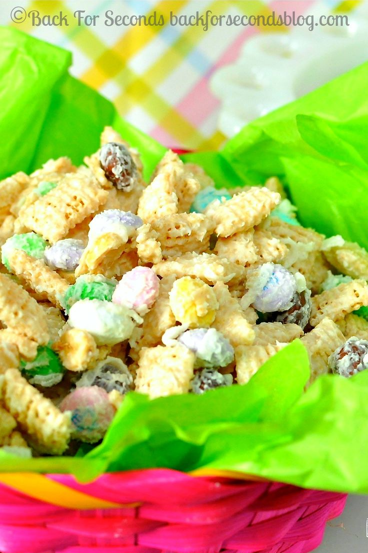 Coconut Candy Chex Mix @Back For Seconds #chexmix #candy #coconut