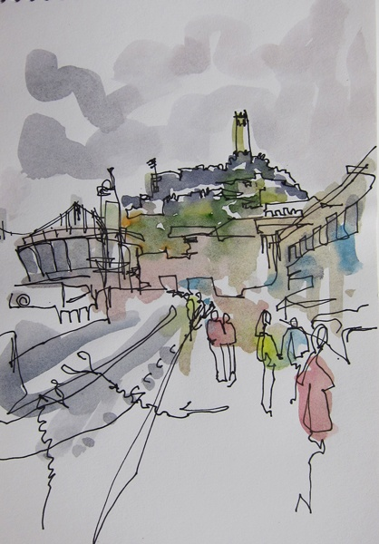 Line Drawing With Watercolor : Pin by elizabeth truman on art lessons pinterest
