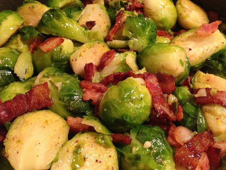 Brussels Sprouts with Bacon | Recipes | Pinterest