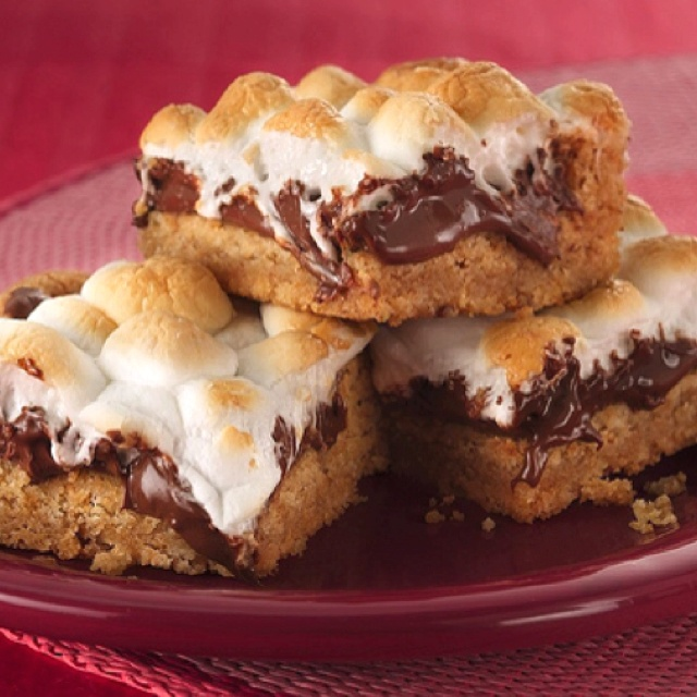 """Warm Toasted Marshmallow S'more Bars   Give me """"S'MORE"""" Ple..."""
