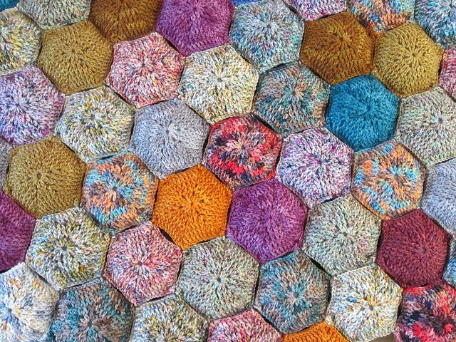 Free Crochet Lap Quilt Patterns : Hexapuff Lap Quilt pattern by Julie Blagojevich