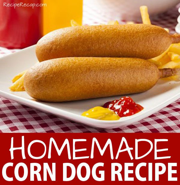 Home Made Corn Dogs | RecipeRecap.com | Fun with Lunch! | Pinterest