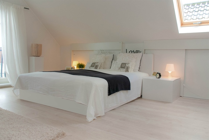 Zolder als ruime slaapkamer  Zolder/werkplek  Pinterest