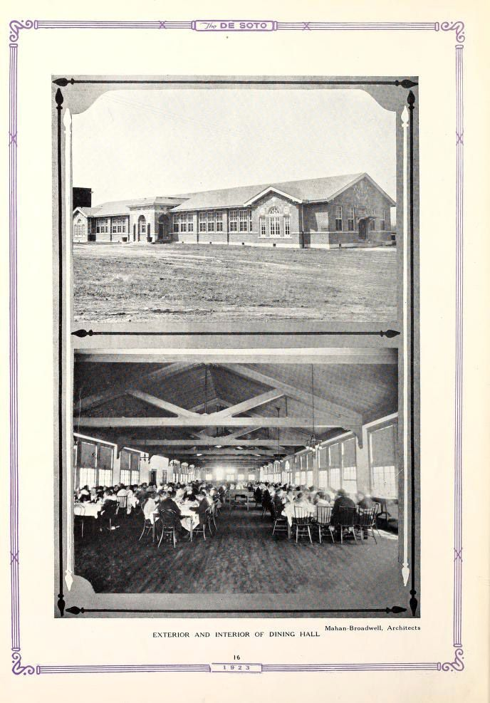 ... State Normal School, Dining Hall - 1923 (aka: University of Memphis
