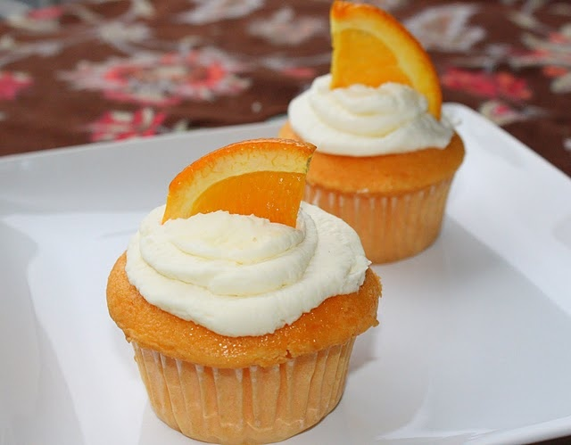 Orange Creamsicle Cupcakes | From The Blog | Pinterest