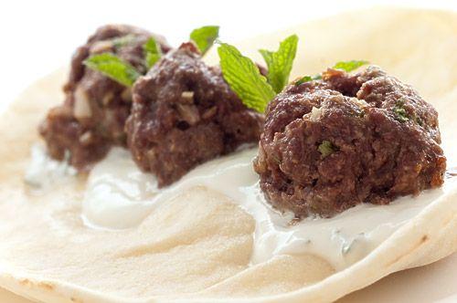 Lamb Meatball Gyro with Mint Yogurt Sauce — The mint yogurt sauce ...