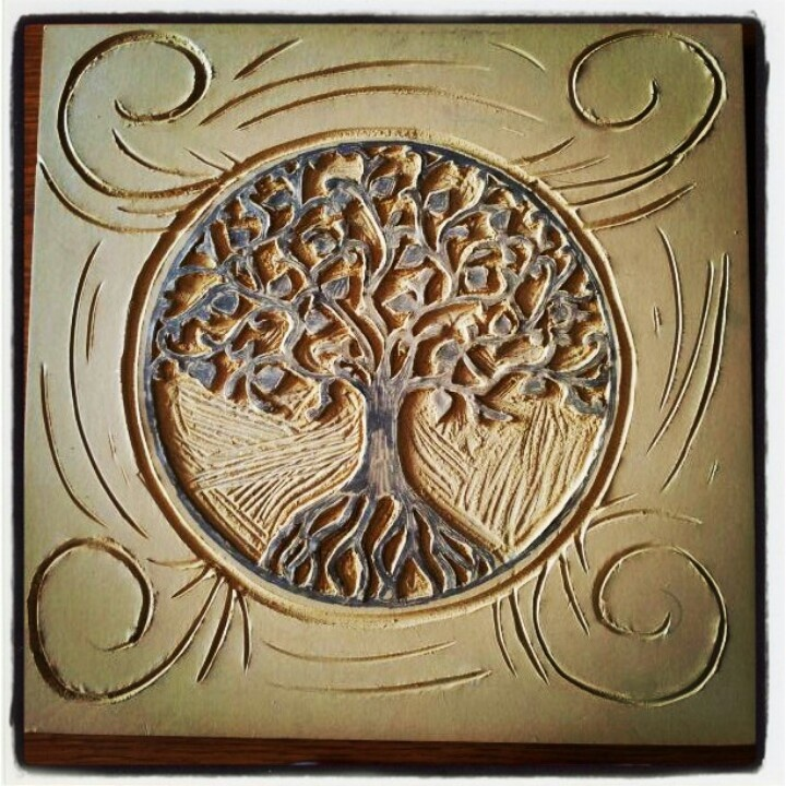 Linoleum carving quot tree of life carvings