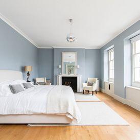 Pinterest for Blue walls white trim