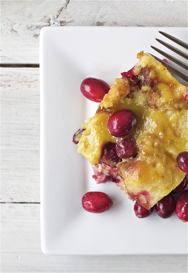 Cranberry Orange Bread Pudding | Bright Bold and Beautiful