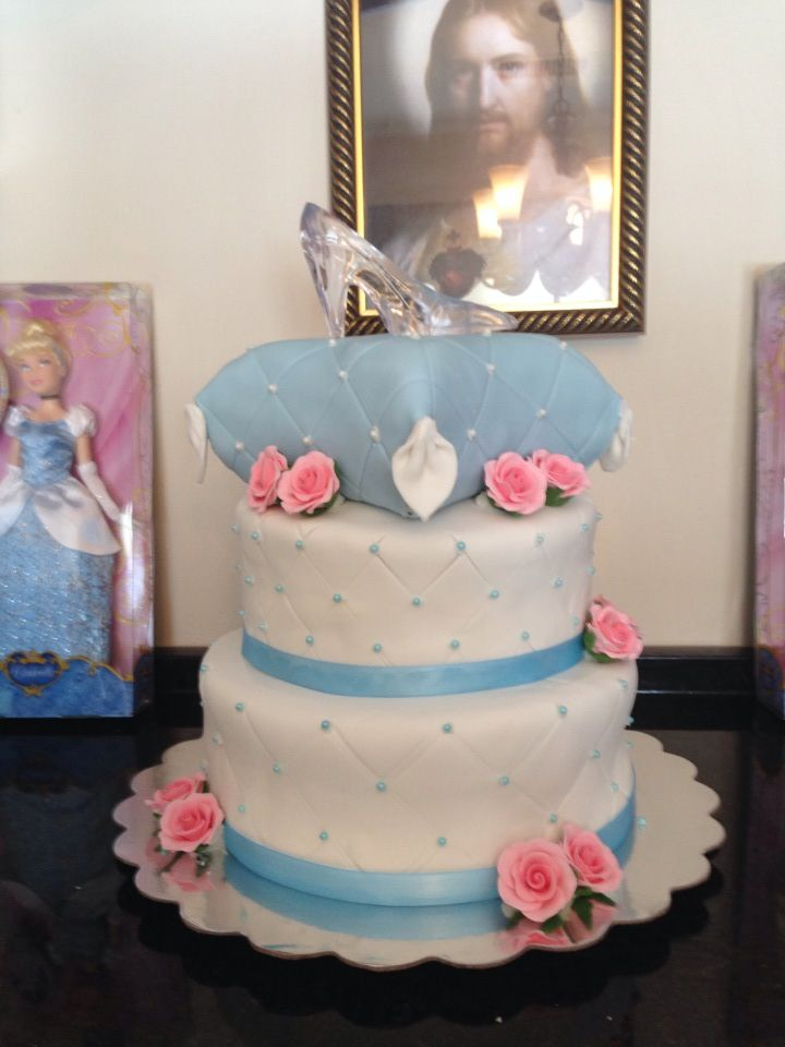 cinderella baby shower cake cute cakes pinterest
