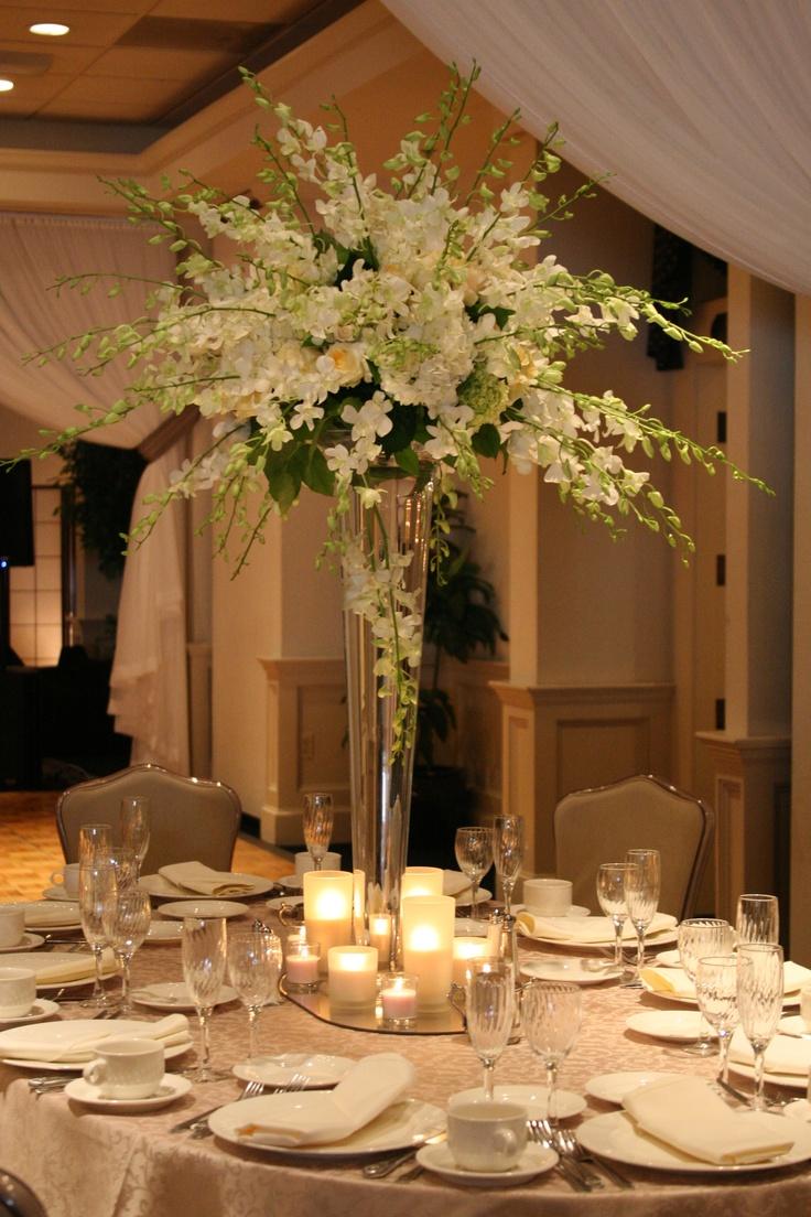White orchid centerpiece wedding centerpieces pinterest