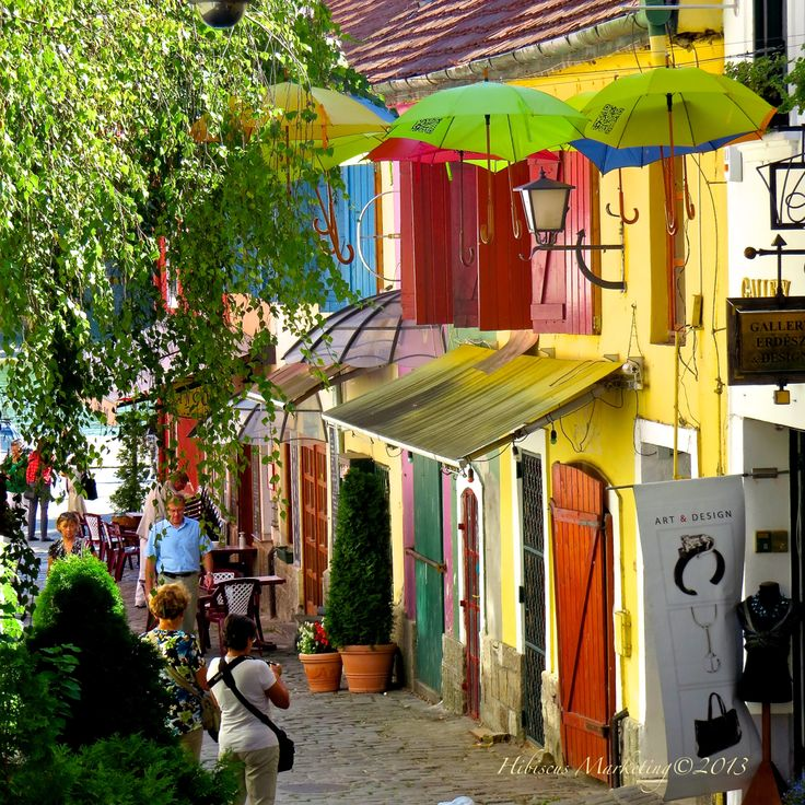 Colorful Small Town In Hungary
