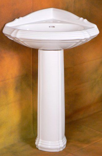 Small Corner Pedestal Sink : CORNER PEDESTAL SINK WHITE- RE1717W - NEW Fine Fixtures Inc.,http ...