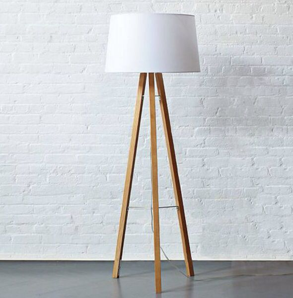 Tripod Wood Floor Lamp Rooms Pinterest