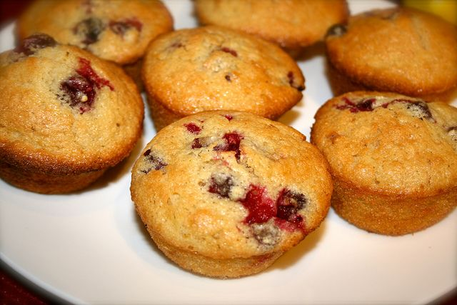 gluten free lemon cranberry muffins by Gill, via Flickr