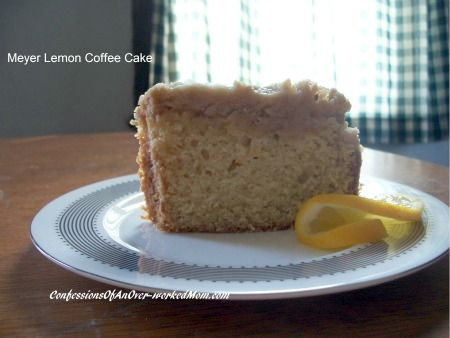 Meyer Lemon Coffee Cake.....sounds soooo but way to much work for me ...