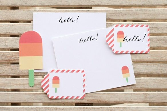 free popsicle printables.  cute.