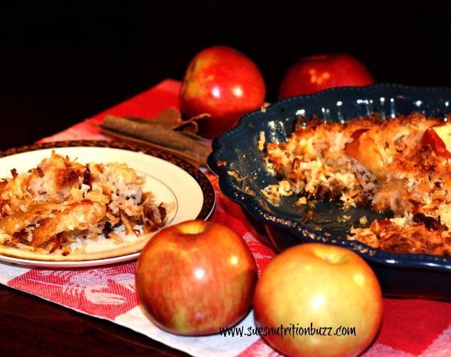 Light apple date coconut crisp | Save Room For Dessert! | Pinterest