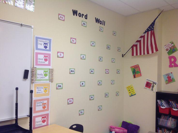 Word wall and behavior chart   First classroom!!! Owls   Pinterest