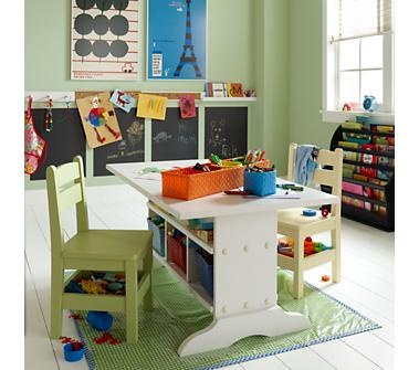 Cute play table with storage (Land of Nod)