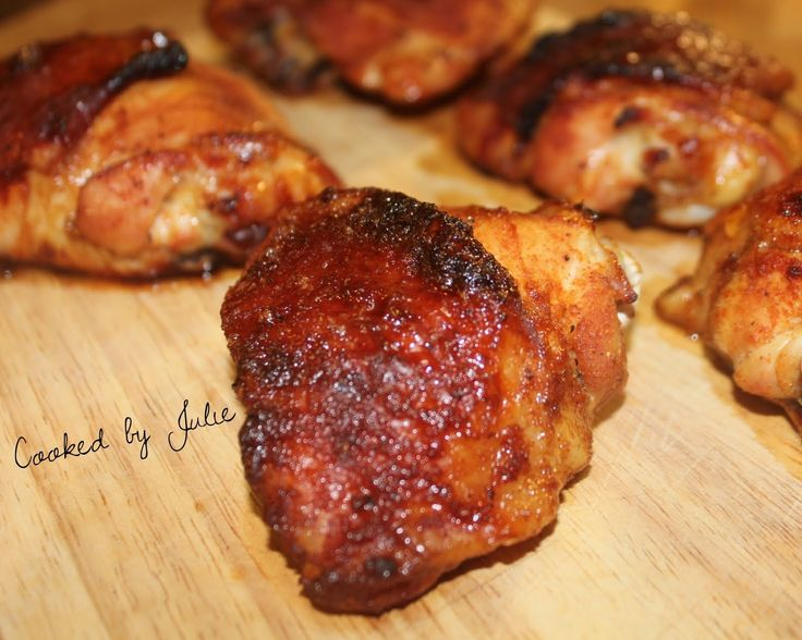 spiced honey brushed chicken thighs and the little dipper spiced honey ...